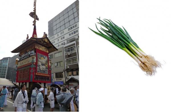 祇園祭と九条ネギ