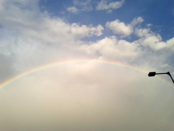 虹のおすそ分け